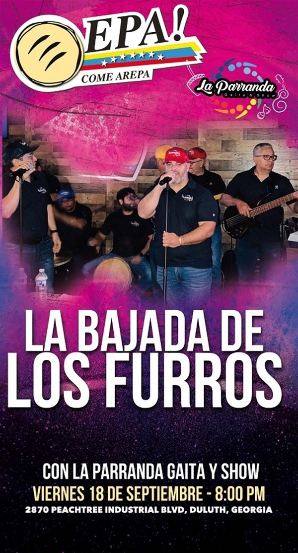 Get Information and buy tickets to La Bajada de los furros con La Parranda Gaita Show - Duluth GA  on www.click-event.com