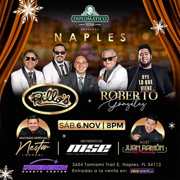 Get Information and buy tickets to Billo`s & Roberto González - Naples FL  on www.click-event.com