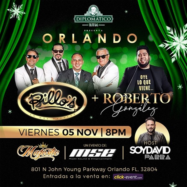 Get Information and buy tickets to Billo`s & Roberto González - Orlando FL  on www.click-event.com