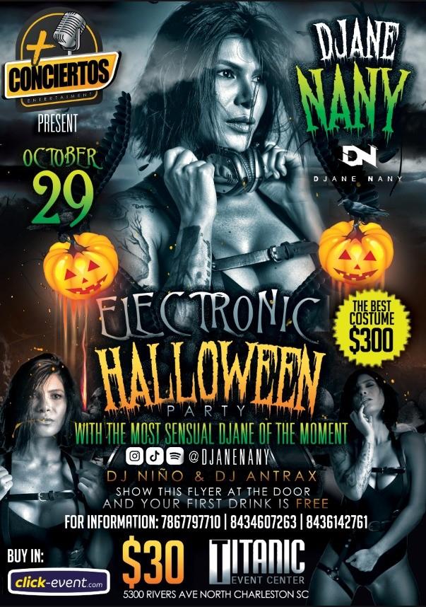 Electronic Halloween - DJ Ane Nany - Charleston SC