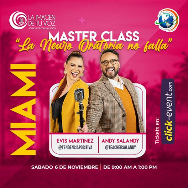 Masterclass La Neuro Oratoria No Falla - Evis Martinez - Andy Salandy - Miami FL