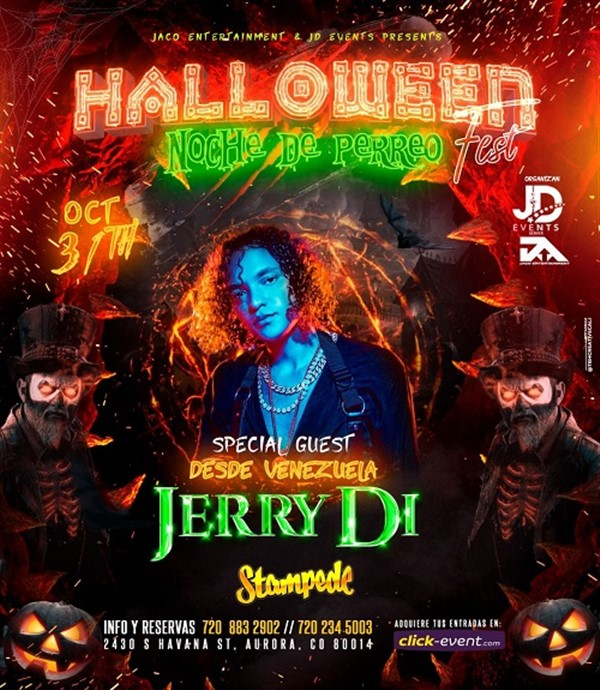 Get Information and buy tickets to Halloween Noche de Perreo Fest - Aurora CO  on www.click-event.com