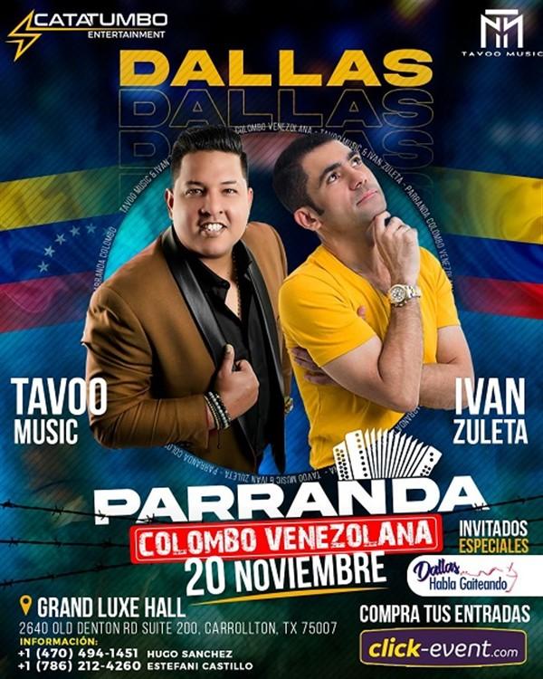 Parranda Colombo Venezolana - Tavoo Music - Ivan Zuleta - Dallas TX