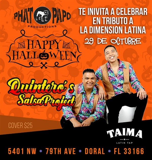 Get Information and buy tickets to Quinteros Salsa Project - Doral FL  on www.click-event.com