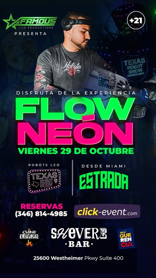 Get Information and buy tickets to Flow Neón - Katy TX  on www.click-event.com