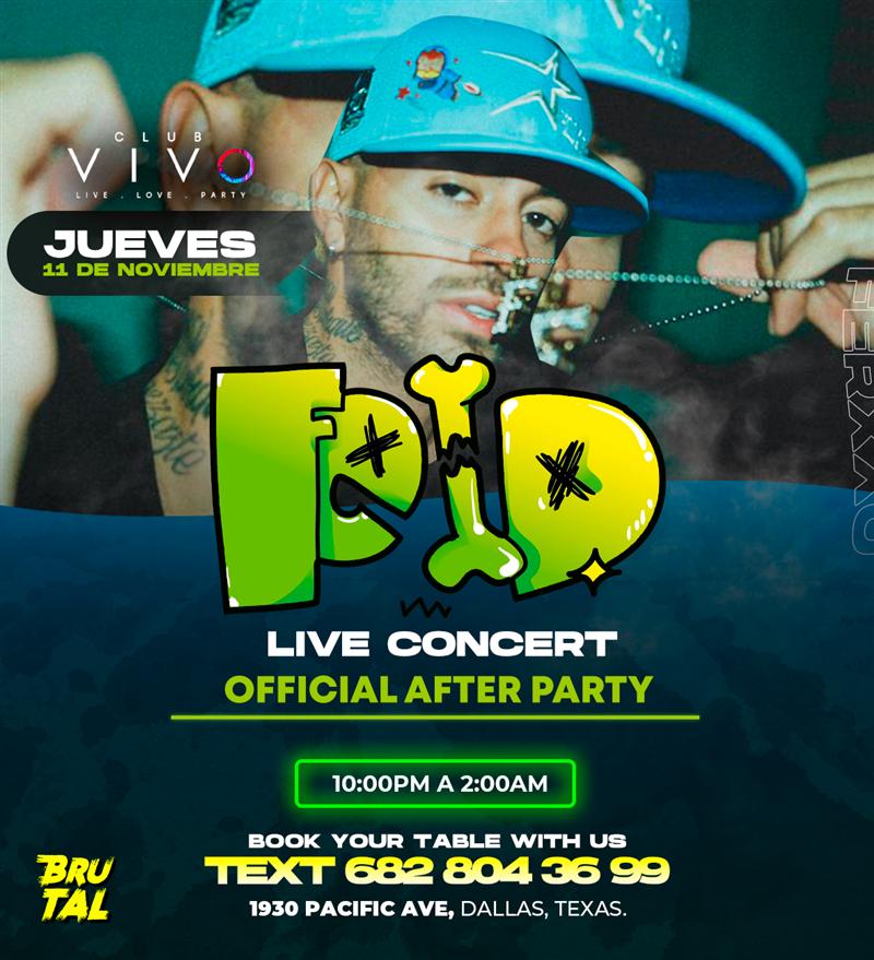 Get Information and buy tickets to Feid en CONCIERTO Club VIVO Dallas on www.click-event.com