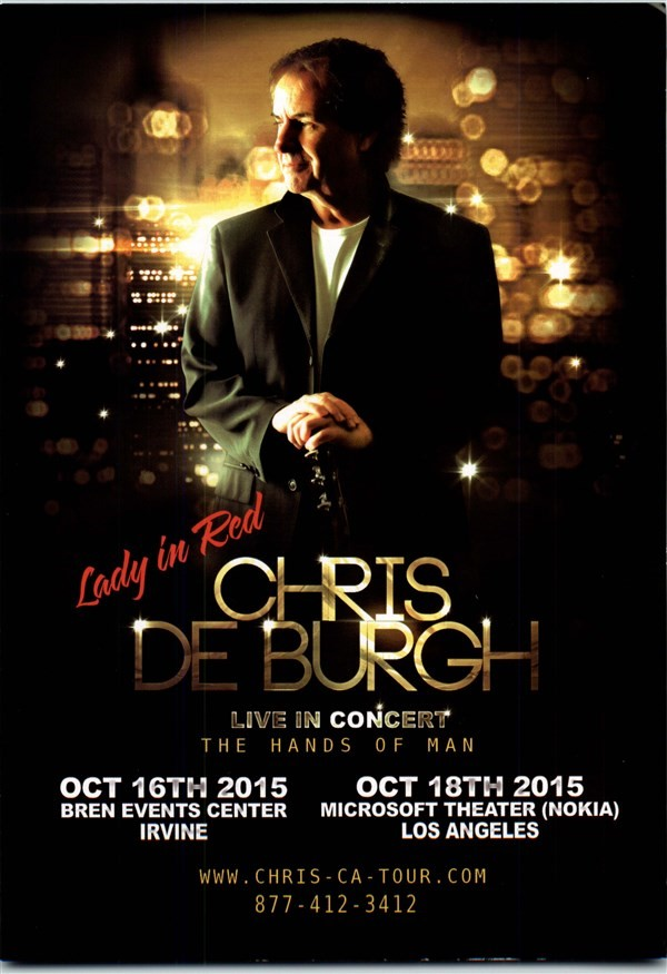Get Information and buy tickets to CHRIS DE BURGH LIVE IN CONCERT  on 08 Tickets
