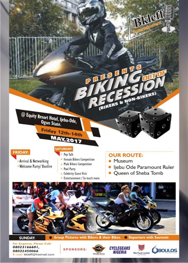 Get Information and buy tickets to Biking Out of Recession Biking Out of Recession on Dejimanaire King Entertainment