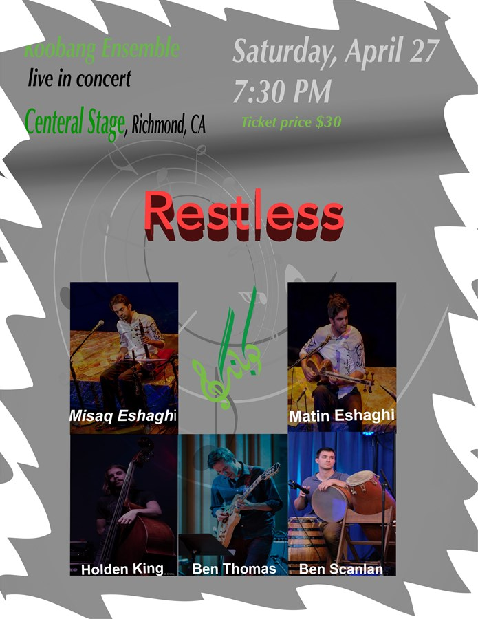 Get Information and buy tickets to Restless  on Koobang Ensemble