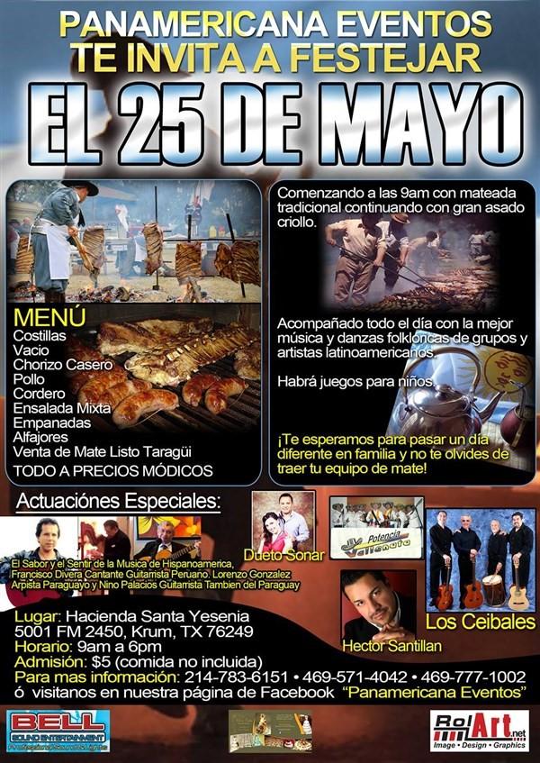 Get Information and buy tickets to FESTIVAL CRIOLLO FIESTA 25 DE MAYO on FESTIVAL CRIOLLO