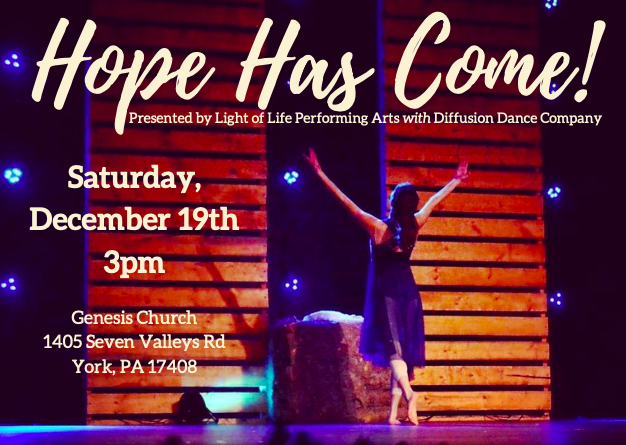 Get Information and buy tickets to Hope Has Come! Saturday, 12/19 3:00p.m. on Light of Life Performing Arts