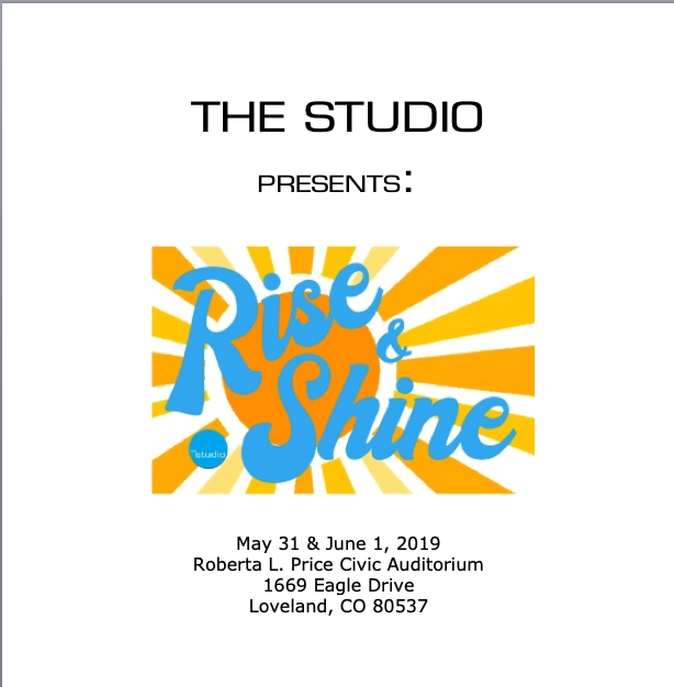 Get Information and buy tickets to Rise and Shine 2019  on thestudioco.com