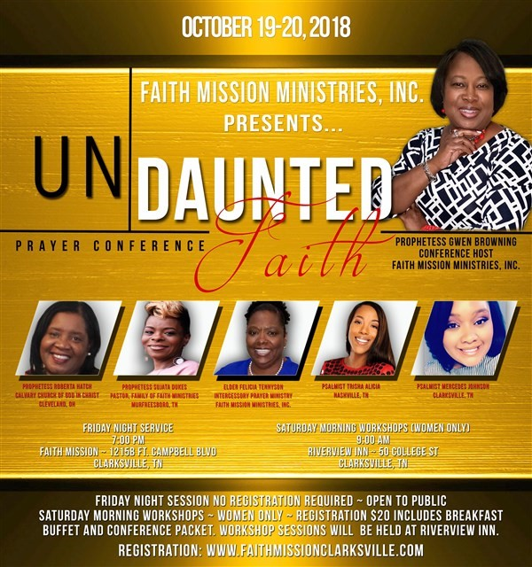 Get Information and buy tickets to Undaunted Faith Prayer Conference  on www.ticketor.com/faithconference