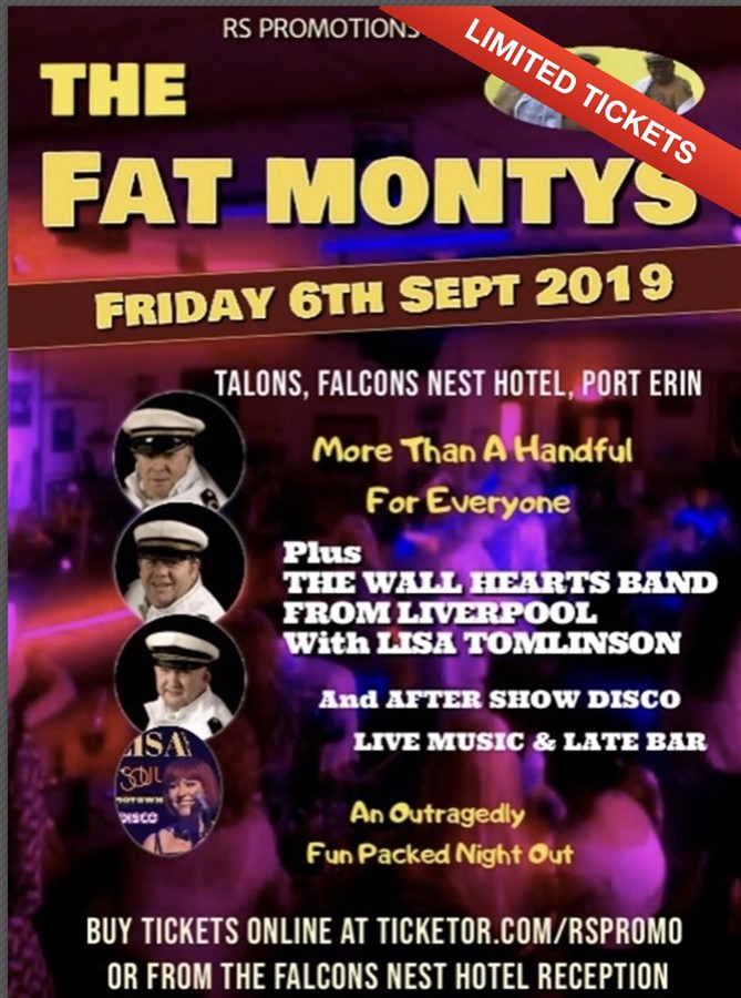 Get Information and buy tickets to THE FAT MONTYS Plus Live! Trio Band From Liverpool & After Show Disco on RS PROMOTIONS