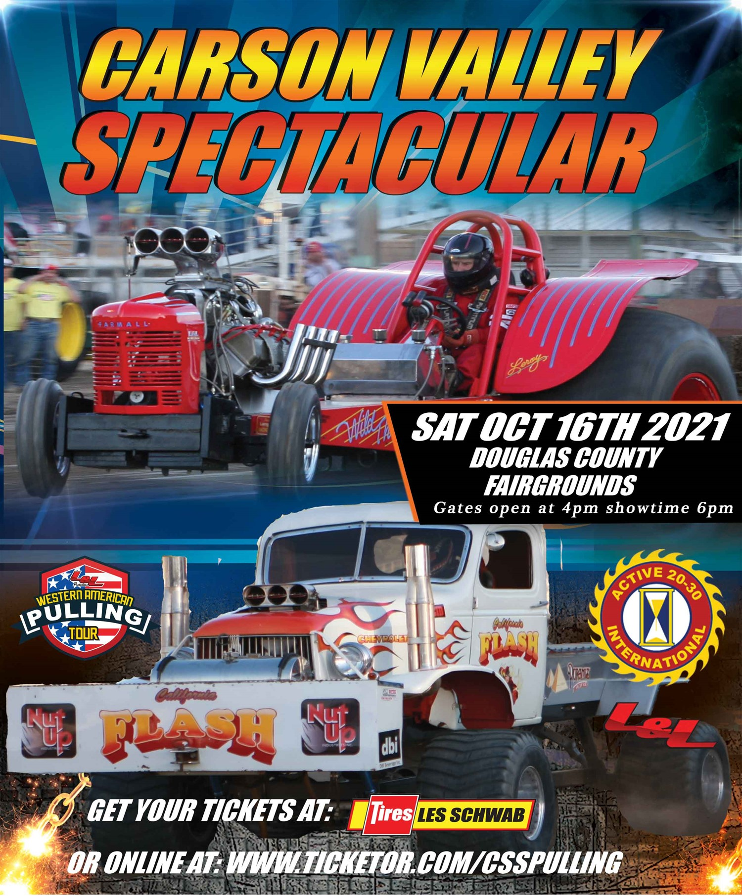 Carson Valley Spectacular Truck & Tractor Pull on Sep 04, 18:00@Douglas County Fairgrounds - Buy tickets and Get information on L & L Productions