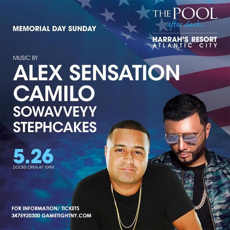 Memorial Day Weekend Atlantic City Harrahs Pool Party 2019 Memorial Day Weekend Atlantic City Harrahs Pool Party 2019 on May 26, 22:00@Harrahs Atlantic City - Buy tickets and Get information on GametightNY