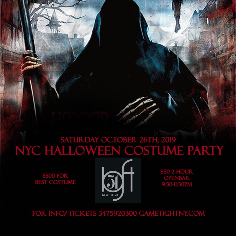 Loft 51 NYC Saturday Openbar Halloween Costume party 2019 Loft 51 NYC Saturday Openbar Halloween Costume party 2019 on Oct 26, 21:30@Loft 51 NYC - Buy tickets and Get information on GametightNY