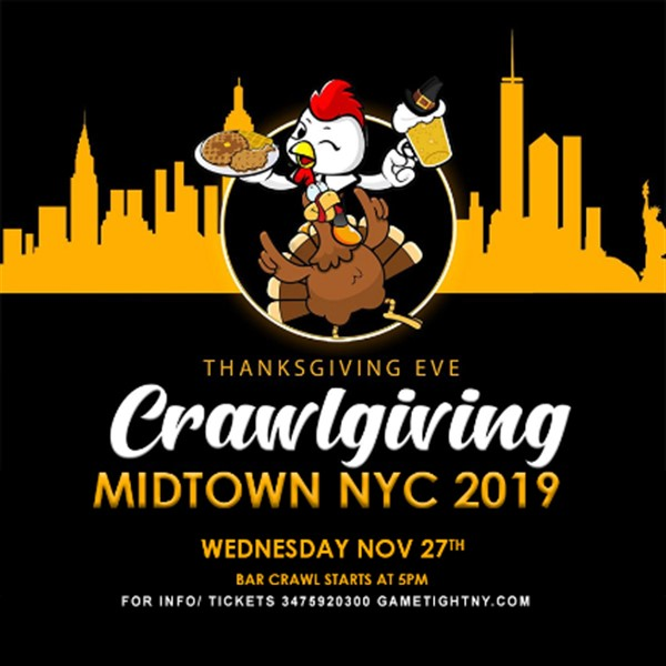 NYC Thanksgiving Eve Pub Crawl 2019 only $15 NYC Thanksgiving Eve Pub Crawl 2019 only $15 on Nov 27, 17:00@various venues in nyc - Buy tickets and Get information on GametightNY