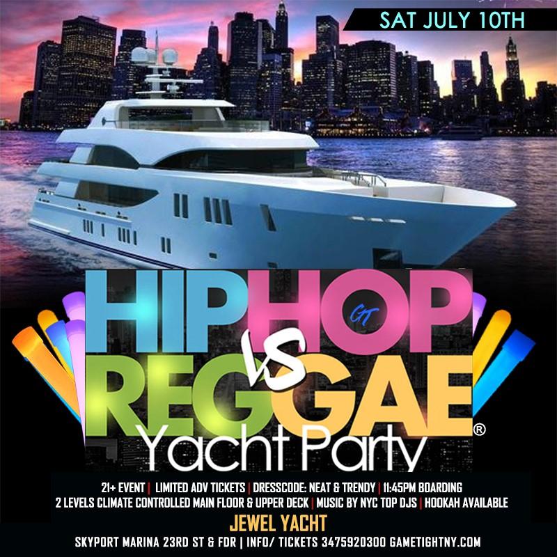 NYC Hip Hop vs Reggae® Summer Midnight Cruise Skyport Marina Jewel NYC Hip Hop vs Reggae® Summer Midnight Cruise Skyport Marina Jewel on jul. 10, 23:45@Skyport Marina - Buy tickets and Get information on GametightNY