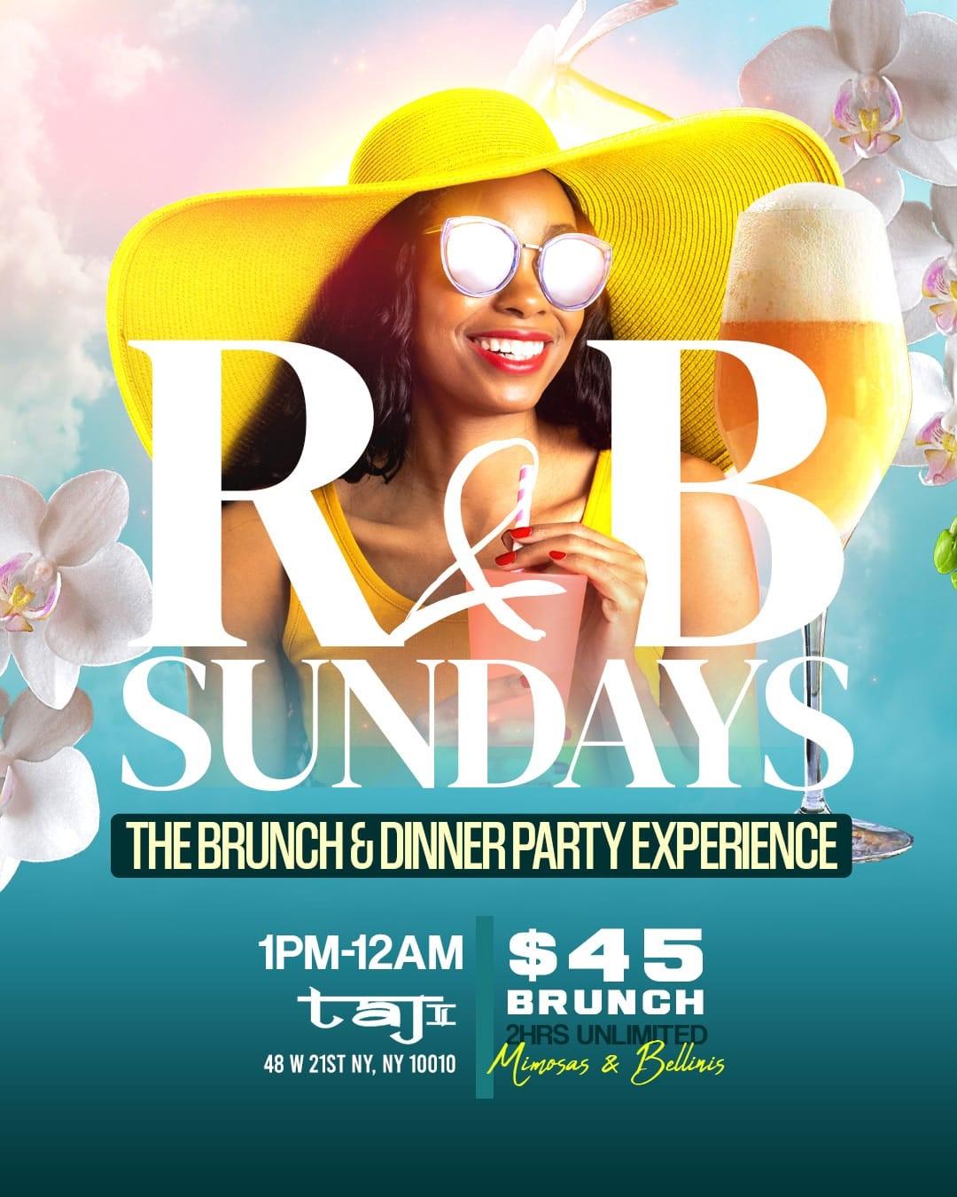 Taj Lounge Brunch on Sunday 2021  on Jul 25, 13:00@Taj Lounge - Buy tickets and Get information on GametightNY