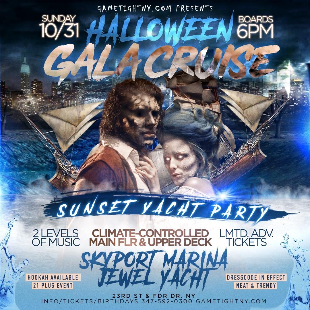 NYC Halloween Gala Cruise Sunday Sunset Yacht Party Skyport Marina Jewel  on Oct 31, 18:00@Skyport Marina - Buy tickets and Get information on GametightNY