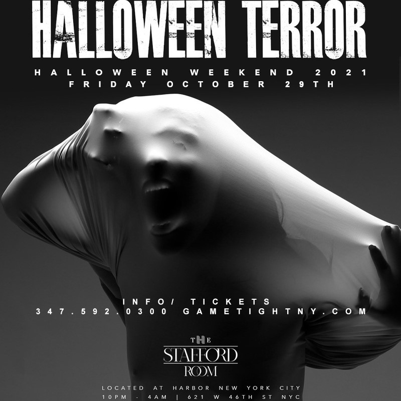 The Stafford Room Halloween Friday Night Party 2021  on Oct 29, 22:00@The Stafford Room at Harbor NYC - Buy tickets and Get information on GametightNY
