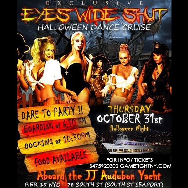 Get Information and buy tickets to Pier 15 NYC Halloween Cruise at JJ Audubon Yacht 2019 Pier 15 NYC Halloween Cruise at JJ Audubon Yacht 2019 on GametightNY
