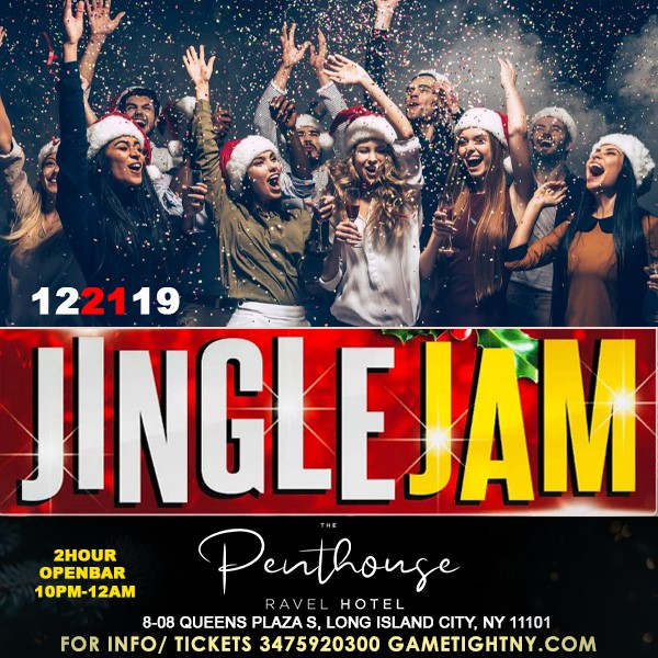 Get Information and buy tickets to Ravel Penthouse 808 Jingle Jam Holiday Rooftop Openbar Party Ravel Penthouse 808 Jingle Jam Holiday Rooftop Openbar Party on GametightNY