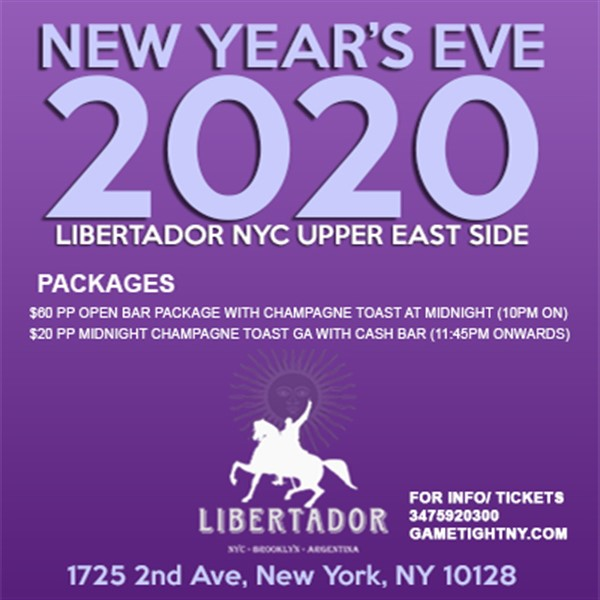 Get Information and buy tickets to Libertador NYC New Year