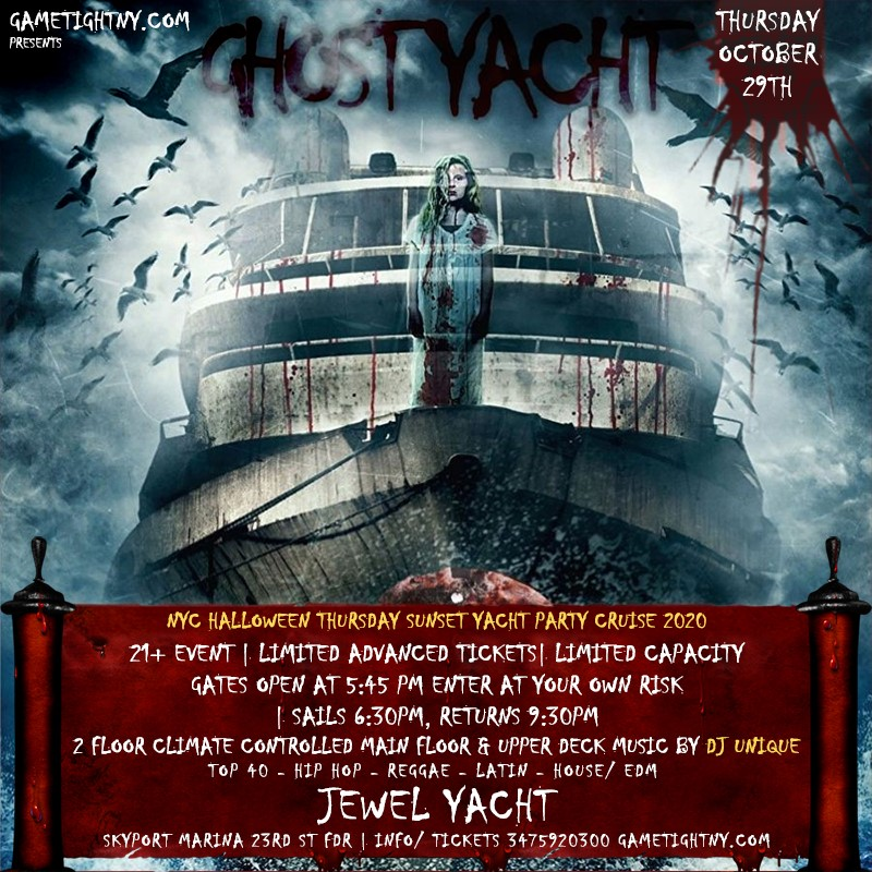 Get Information and buy tickets to NYC Halloween HipHop vs Reggae® Sunset Cruise Skyport Marina Jewel Yacht NYC Halloween HipHop vs Reggae® Sunset Cruise Skyport Marina Jewel Yacht on GametightNY