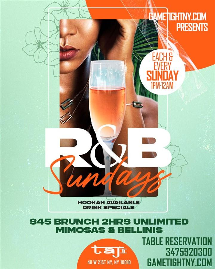 Get Information and buy tickets to Taj Lounge NYC Sundays 3475920300  on GametightNY