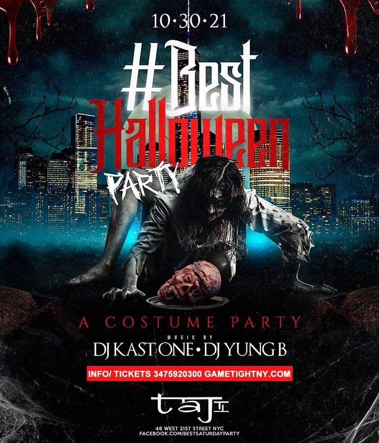 Get Information and buy tickets to Taj Lounge Halloween Saturday Night General Admission 2021  on GametightNY