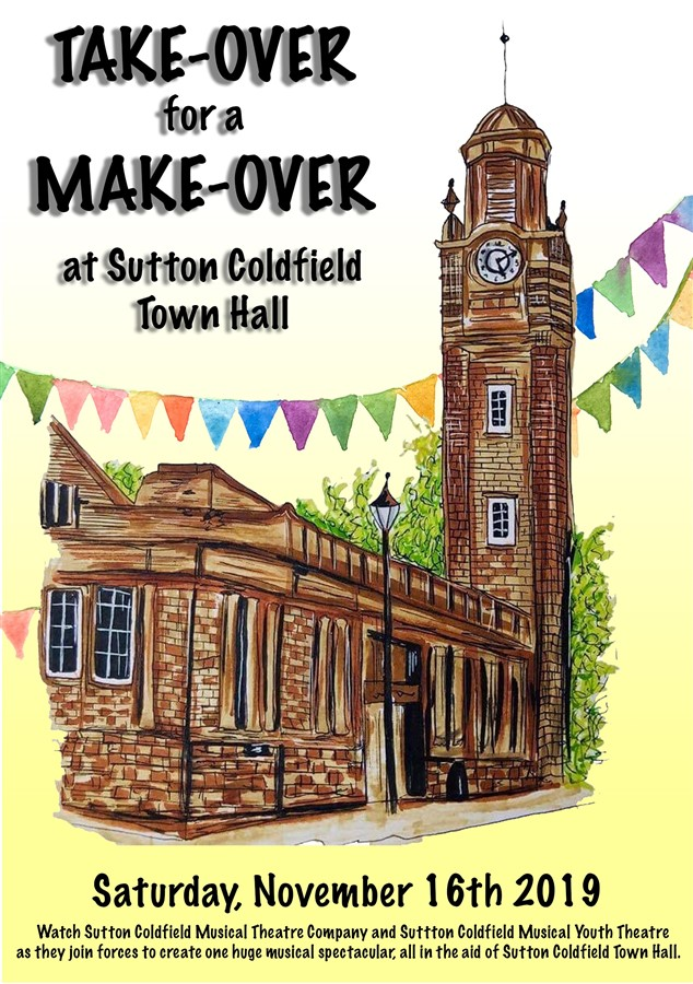 Get Information and buy tickets to Town Hall Fundraiser Take-Over for a Make-Over on Sutton Coldfield Town Hall