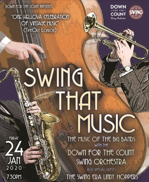 Get Information and buy tickets to Down for the Count Swing Orchestra  on Sutton Coldfield Town Hall