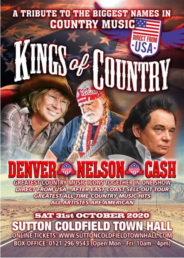 Get Information and buy tickets to Kings of Country  on Sutton Coldfield Town Hall