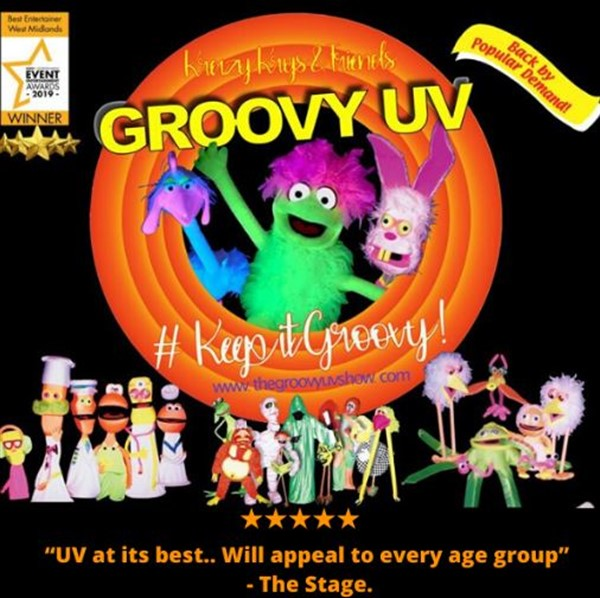 "Get Information and buy tickets to Krazy Krys & Friends ""GROOVY UV SHOW""  on Sutton Coldfield Town Hall"