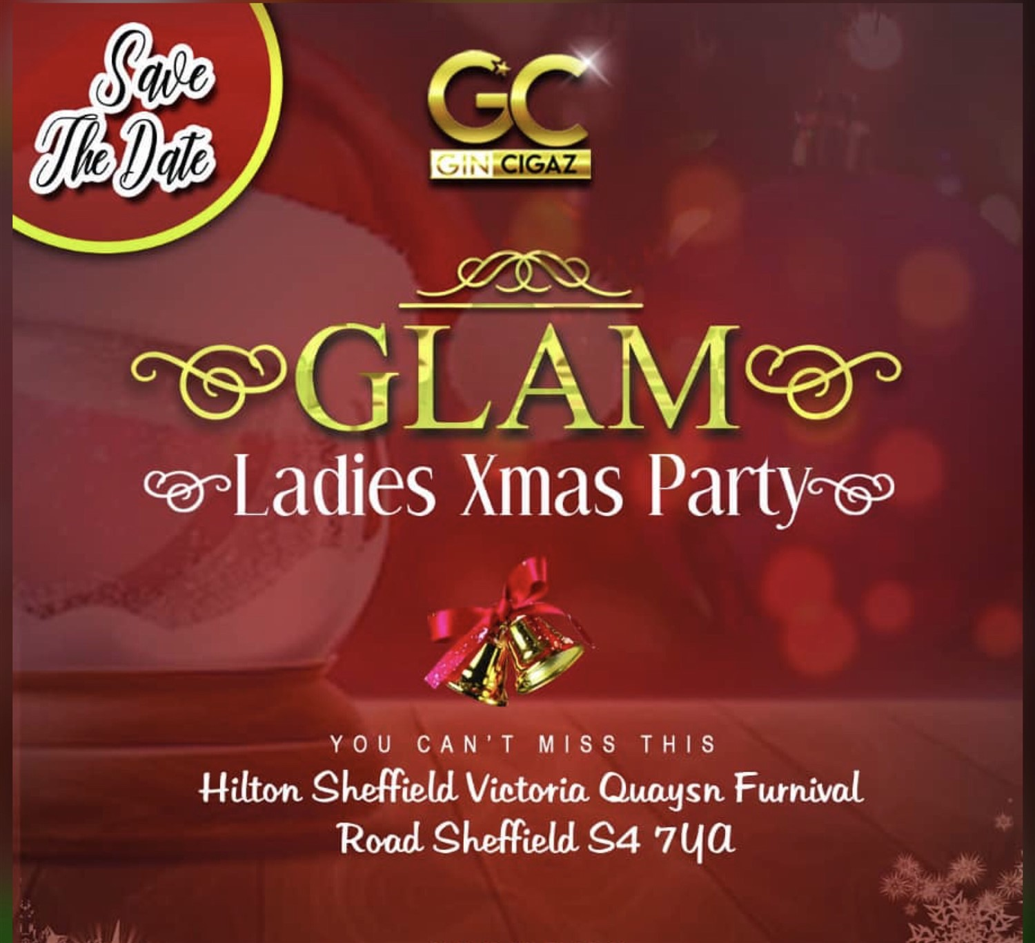 Glam Ladies Xmas 2019  on Dec 14, 17:00@Hilton Hotel Victoria Quays - Buy tickets and Get information on www.gincigaz.com