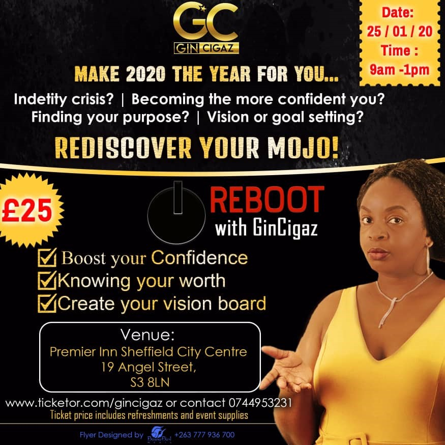Rediscover Your Mojo Make 2020 Your Year on Jan 25, 09:00@Premier Inn Sheffield City Centre - Buy tickets and Get information on www.gincigaz.com