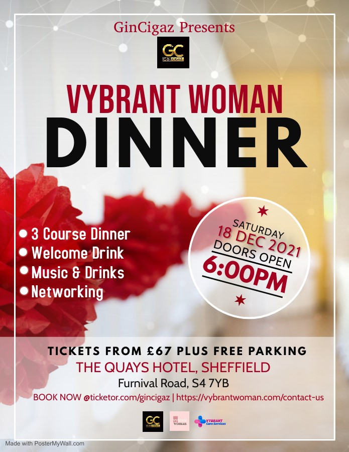 Vybrant Woman Dinner  on Dec 18, 18:00@The Quays Hotel - Buy tickets and Get information on www.gincigaz.com
