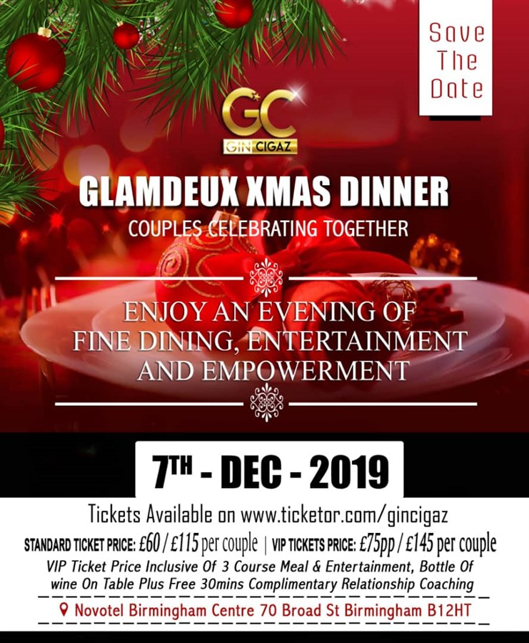 Get Information and buy tickets to GlamDeux Xmas Party Couples on www.gincigaz.com