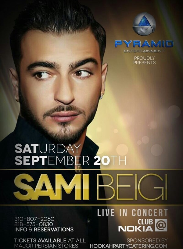 Get Information and buy tickets to SAMI BEIGI Live in concert کنسرت سامی بیگی on Irani Ticket