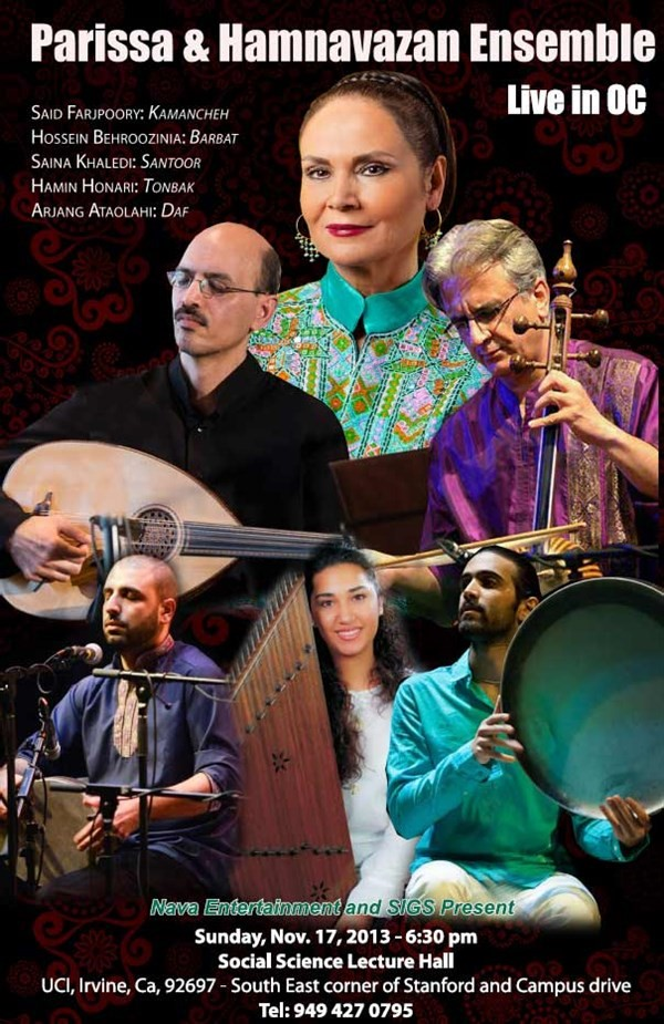 Get Information and buy tickets to Parissa & Hamnavazan Ensemble Live in OC کنسرت پریسا و گروه همنوازان on Irani Ticket