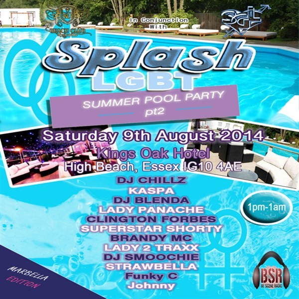 Get Information and buy tickets to Splash LGBT Summer Pool Party pt2 on Be Scene Radio
