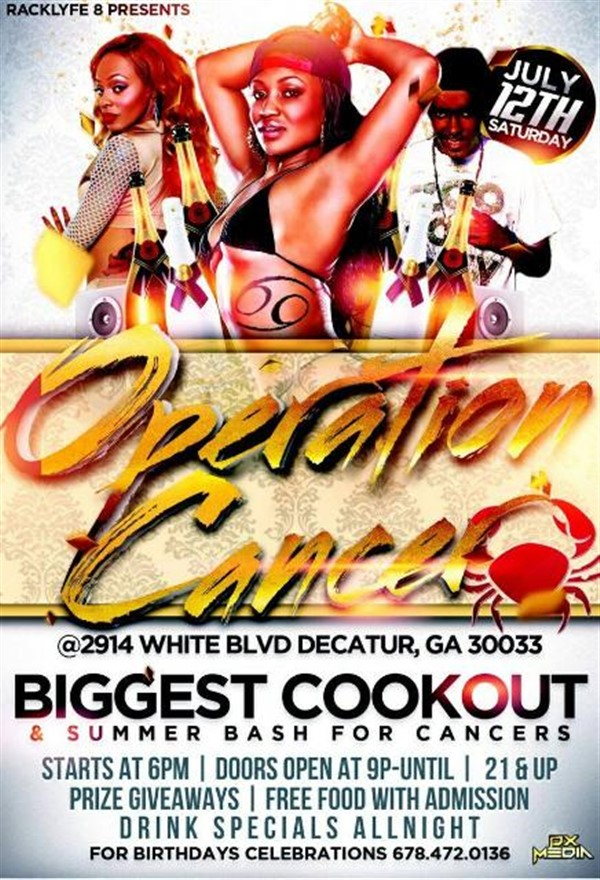 Get Information and buy tickets to OPERATION CANCER COOK OUT & BIRTHDAY BASH  on OPERATION CANCER
