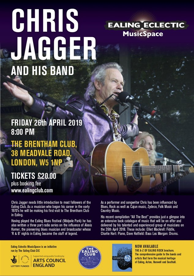 Get Information and buy tickets to Chris Jagger and his Band  on Brenthamclub.co.uk