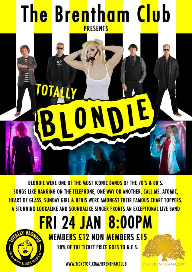 Get Information and buy tickets to Blondie Tribute Night North Ealing School Fundraiser on Brenthamclub.co.uk