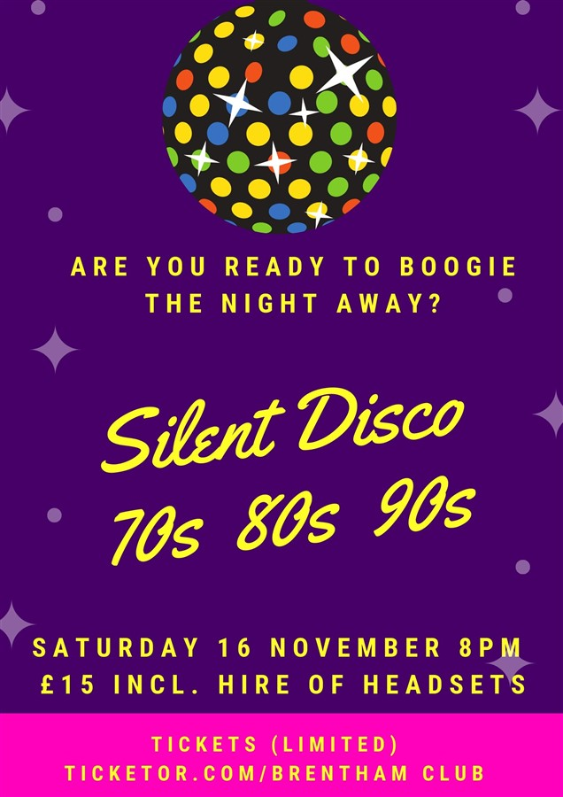 Get Information and buy tickets to Silent Disco 70s 80s 90s  on Brenthamclub.co.uk