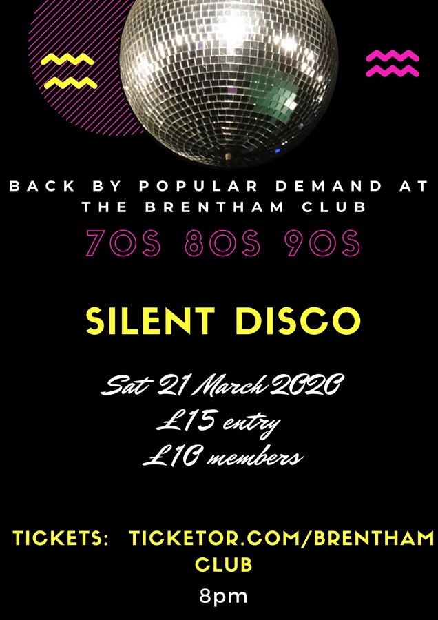 Get Information and buy tickets to Silent Disco 70s 80s 90s Music on Brenthamclub.co.uk