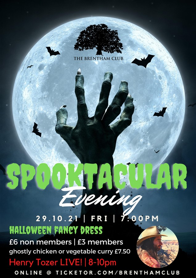 Get Information and buy tickets to Spooktacular Halloween Evening Fancy Dress on Brenthamclub.co.uk