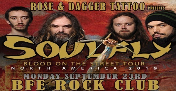 Get Information and buy tickets to SoulFly  on BFE Rock Club